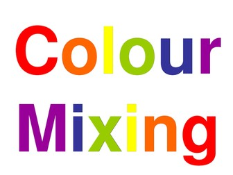 Colour Mixing with Colour wheels