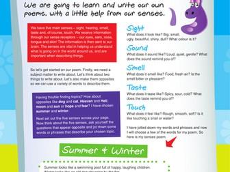 Senses Poetry Lesson Plan, Workshop & Activity