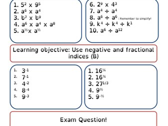 Indicies - inc fractional and negative