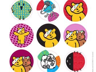 BBC Children in Need stickers