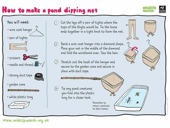Make your own pond dipping net