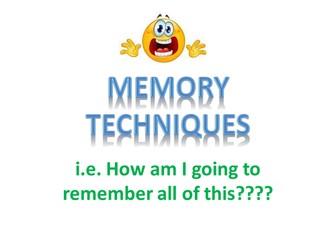 Memory Techniques!