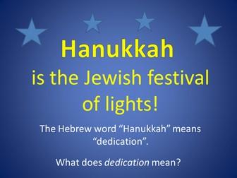 Hanukkah - PowerPoint and partner activity
