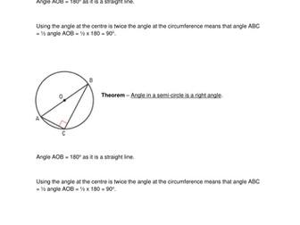 Circle Theorems Proof