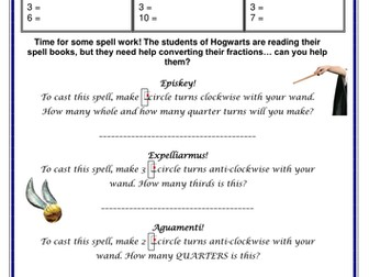 Mixed Fractions - Harry Potter style!