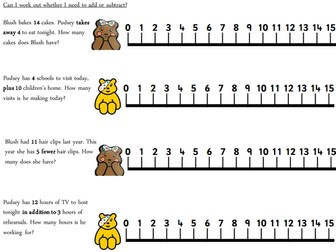 Children in Need addition and subtraction - Pudsey