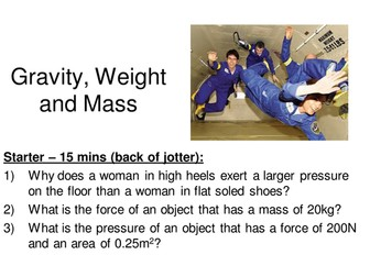 Forces - Gravity, weight & Mass