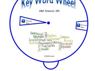 AQA  Science ISA Key Word Wheel