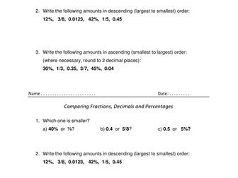 converting fractions decimals and percentages by kesten  teaching  converting fractions decimals and percentages by kesten  teaching  resources  tes