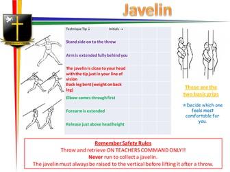 Javelin peer assessment checklist