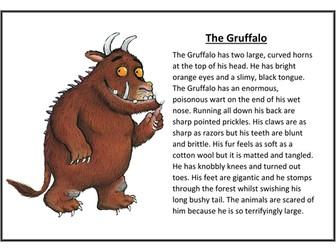 The Gruffalo Character Description WAGOLL | Teaching Resources