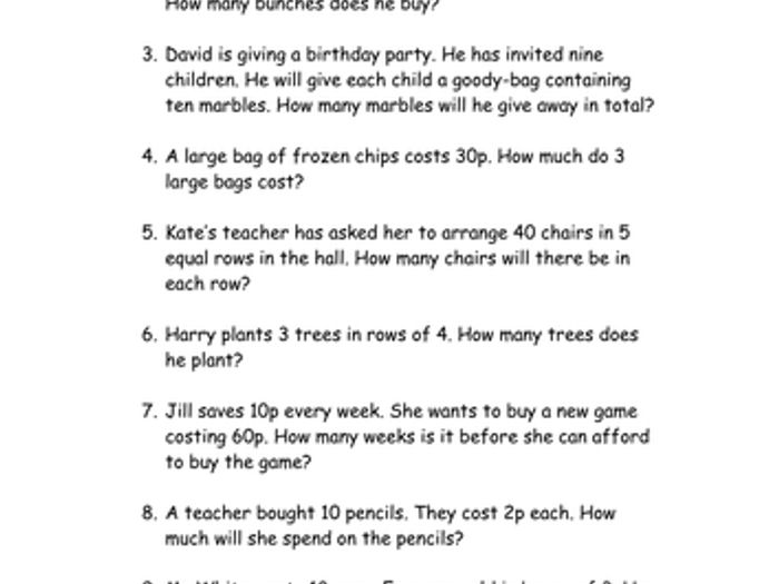 math worksheet : multiplication and ision word problems by elzbells  teaching  : Multiplication Problem Solving