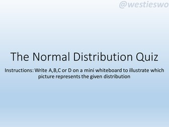 The Normal Distribution quiz