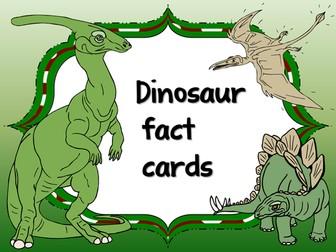 Dinosaur fact cards