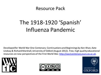 The 1918-1920 Spanish Flu Pandemic: Resource Pack