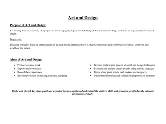 Art and Design new curriculum