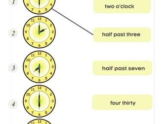 Telling the Time Exercises for ESL/EFL