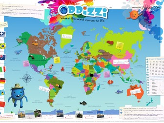 World rivers mapping by oddizzigloballearning teaching resources tes world map activity gumiabroncs Choice Image
