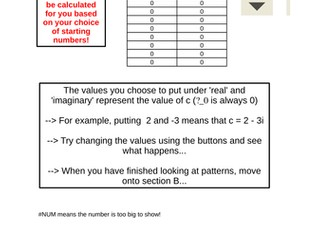Fractals, Imaginary and Complex Numbers