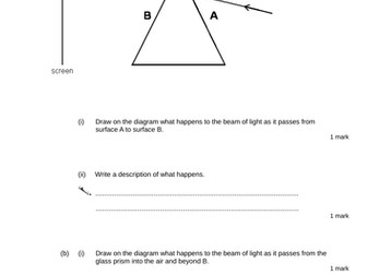 Light - Levelled SATs questions