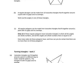 Angles - Levelled SATs questions