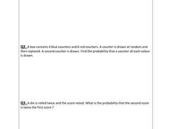 Probability Trees Worksheets (Conditional and Non) by JaggerR ...