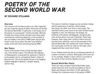 Poetry of the Second World War