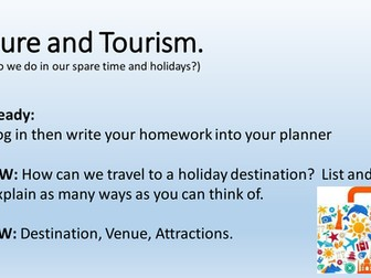 Leisure &Tourism Activity Powerpoints