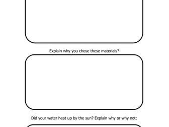 Science - Matierials Worksheets