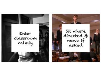 Classroom expectation cards