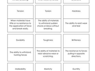 Properties of Materials Dominoes