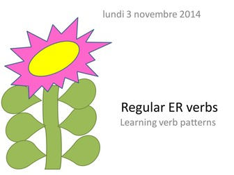 French regular verbs (ER and IR/RE)