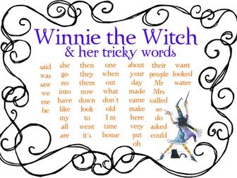 Winnie the Witch and her tricky words