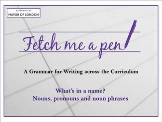 Nouns, pronouns and noun phrases