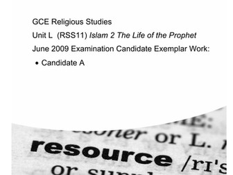 Life of the Prophet pbuh AO2 questions resources