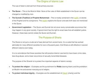 Lesson 3 shariah