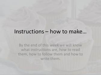 Instructions and baking