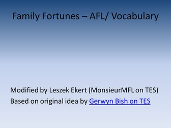 Family Fortunes - AFL or Vocabulary