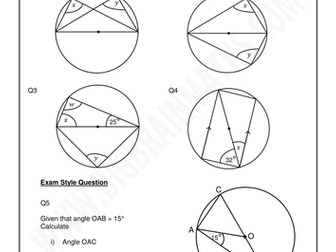 Circle Geometry worksheets