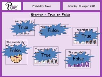 Probability trees