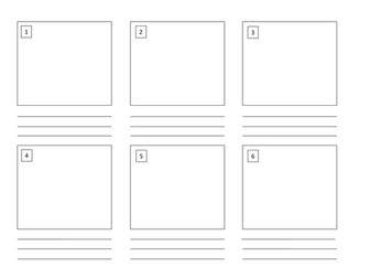 Storyboard Template (6 boxes)