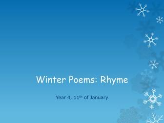 Winter Poems: Rhyme