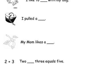 Complete a sentence