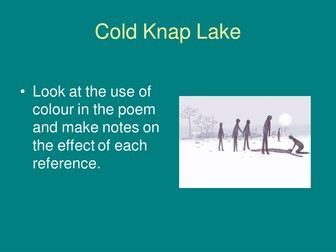 Cold Knap Lake PowerPoint