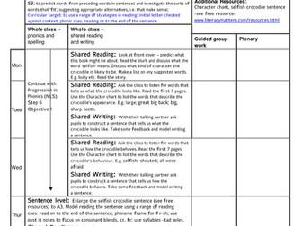 Crocodiles literacy planning
