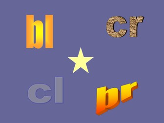 Initial Blends: bl; br; cr; cl
