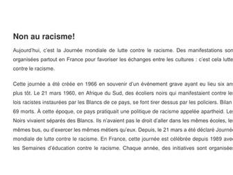 Article - Non au Racisme!