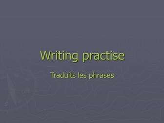 Writing practise