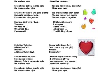 Valentine's Day Spanish