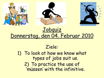 Personality traits & jobs - German